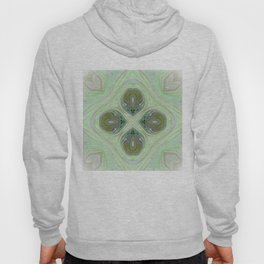 Minty Green and Pearl Diamond Abstract Hoody