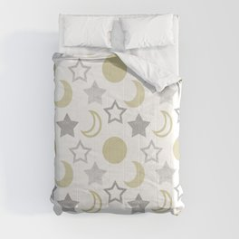 Gold Moons and Silver Stars Comforters