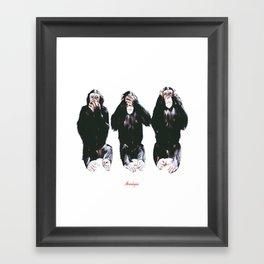 The three wise monkeys Framed Art Print