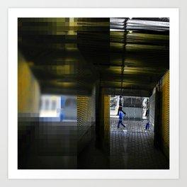 silhouette transit application essence Art Print