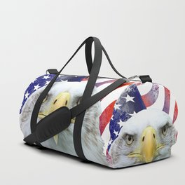 American Flag and Bald Eagle Duffle Bag