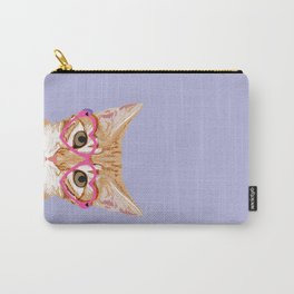 Cute Tabby Cat love valentine cat lady gift for her pastel lilac purple cat cutest gift for pets Carry-All Pouch