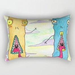 Alien Couple Rectangular Pillow