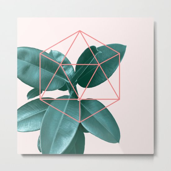 Geometric greenery II Metal Print