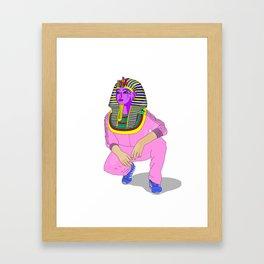 Tut $WA6 pink Framed Art Print
