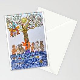 Krishna Leela, Madhubani Painting Stationery Cards