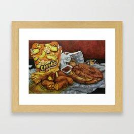 Mac n' Cheetos Omage Framed Art Print