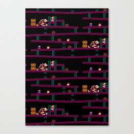 Donkey Kong Retro Arcade Gaming Design Canvas Print