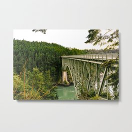 Bridge at Sunset Metal Print