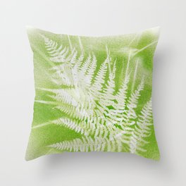 Airbrushed bracken frond and grasses Throw Pillow