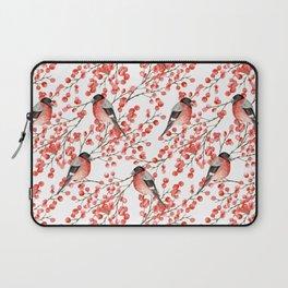 Bullfinch and red berries Laptop Sleeve