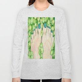 Green Grapes and Pedicure Long Sleeve T-shirt
