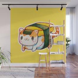 Sushi Cat Wall Mural