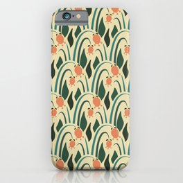 a lot of flowers for art deco green iPhone Case