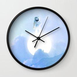 Astronaut on the Sun Wall Clock