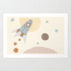 spaceship collage Art Print
