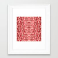 damask Framed Art Prints featuring Damask by AbstractCreature