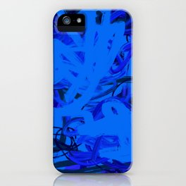 Blue & Navy Abstract iPhone Case