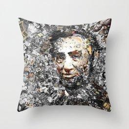 """Rendering Myself Worthy"" Abraham Abe Lincoln. Throw Pillow"