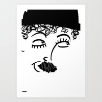 chaplin Art Prints featuring Chaplin  by Sardine