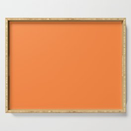 Irish Flag Orange Simple Solid Color Serving Tray