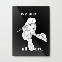 The World of Walking Art (Black) Metal Print