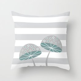 Romantic mushrooms Throw Pillow