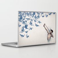 birds Laptop & iPad Skins featuring Lucky Shot by David Fleck