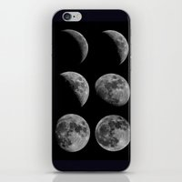 moon phases iPhone & iPod Skins featuring Moon Phases by Astrophotos by McLeod