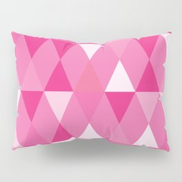 Harlequin Print Pinks Pillow Sham