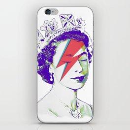 Queen Elizabeth / Aladdin Sane iPhone Skin