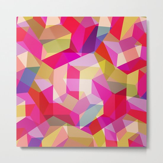 Colourful Twisted rectangles Metal Print