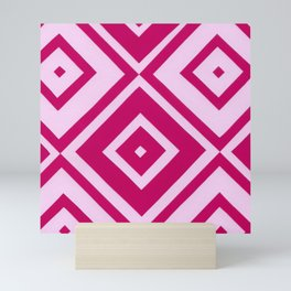 Pink Diamonds Mini Art Print