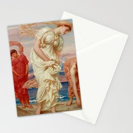 """Frederic Leighton """"Greek Girls Picking up Pebbles by the Sea"""" Stationery Cards"""