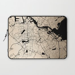 Amsterdam Gold on Black Street Map Laptop Sleeve