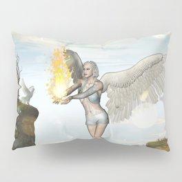 Wonderful fairy  on the rock Pillow Sham