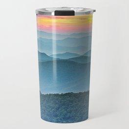 Mountain Range Sunset Travel Mug