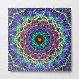 Mandala - Inward Flower Metal Print