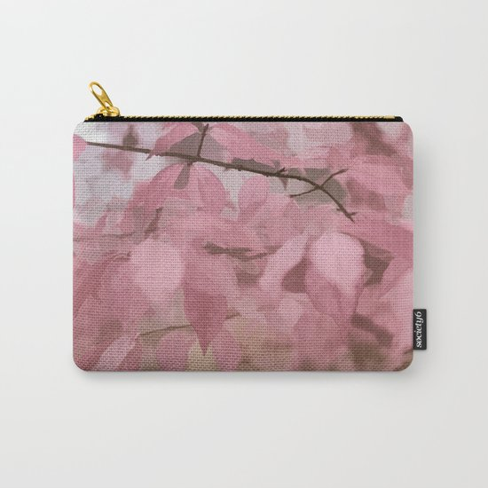 Soft Pastel Leaves  Carry-All Pouch