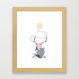 The Backpacker Framed Art Print