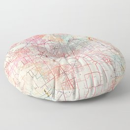 Parma map Ohio painting Floor Pillow