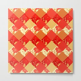 Patchwork, autumn Metal Print