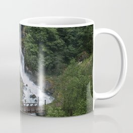 Painterly Waterfall in Norway with bridge in foreground -Landscape Photography Coffee Mug
