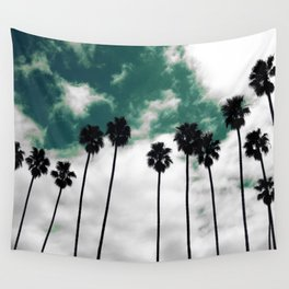 Palms in the sky Wall Tapestry