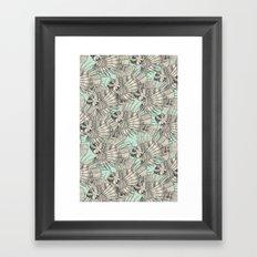 fish mirage mint Framed Art Print