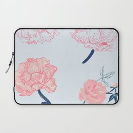 Vintage roses and peonies with indigo palette Laptop Sleeve