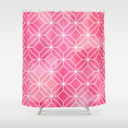 Geometric Crystals: Rose Petal Shower Curtain