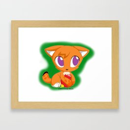Bobble Cat Framed Art Print