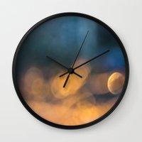 bokeh Wall Clocks featuring Bokeh by Lola