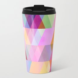 abstract geometry spring colors Travel Mug